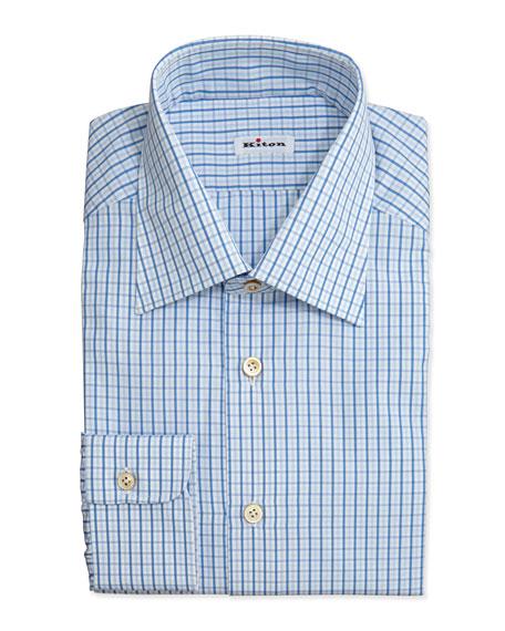 Box-Check Dress Shirt, Blue