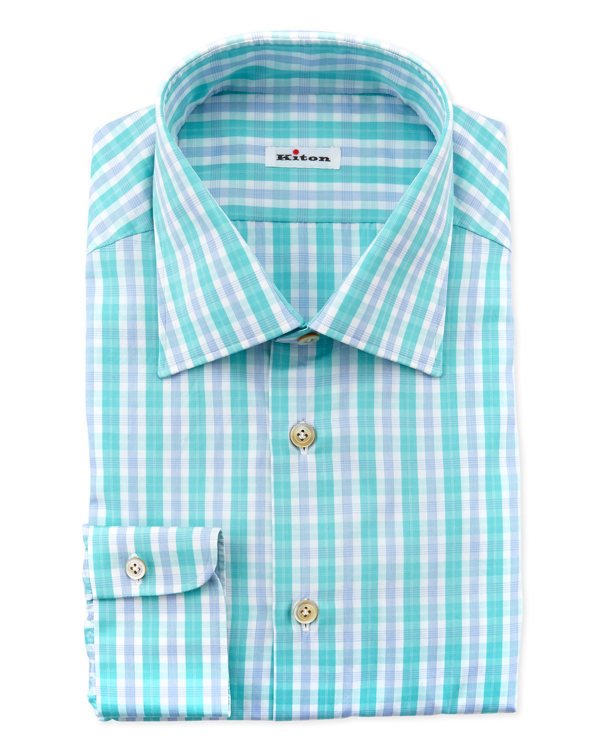 Plaid Dress Shirt, Aqua