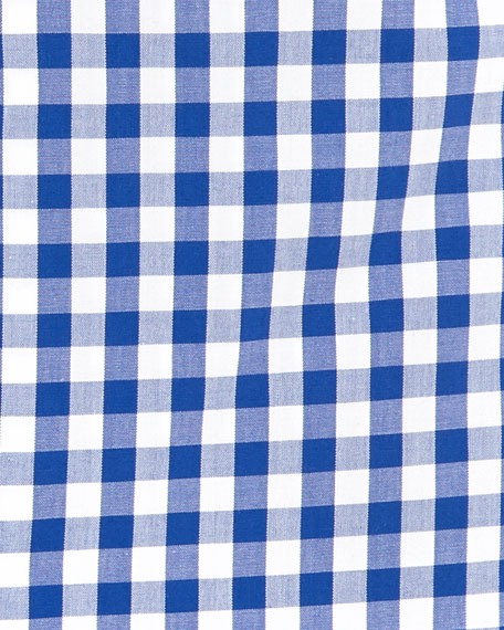 Large-Gingham Dress Shirt, Blue