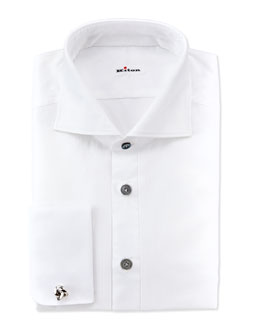 Kiton Formal Dress Shirt, White