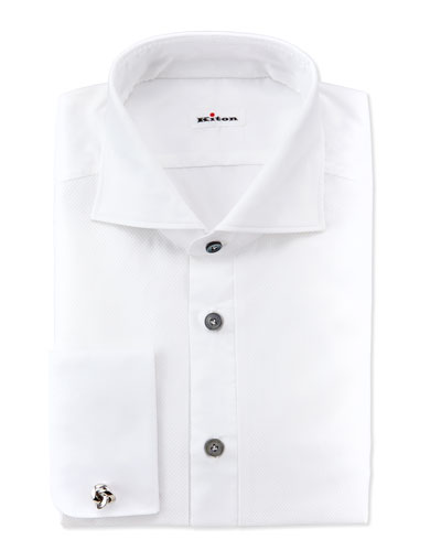 Kiton Formal Dress Shirt, White