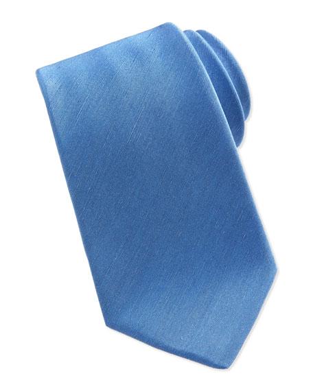 Silk/Linen Tie, Blue