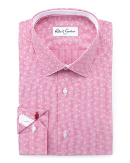 Robert Graham Gene Mini-Paisley Dress Shirt, Berry