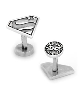 Cufflinks Inc. Sterling Silver Superman Cuff Links