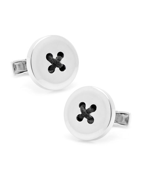 Sterling Button Cuff Links