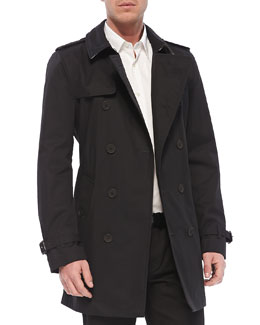 Burberry Brit Lightweight Trench Coat, Black