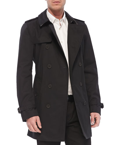 Lightweight Trench Coat, Black