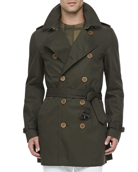 Lightweight Trench Coat, Green