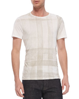 Burberry Brit Check-Print Short-Sleeve Tee, White