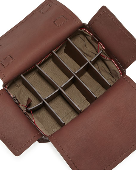 Brubick Leather Travel Kit, Brown