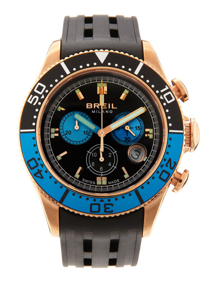 Manta RG Chronograph Watch, Blue/Black