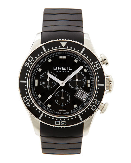 Manta Chronograph Men's Watch, Black