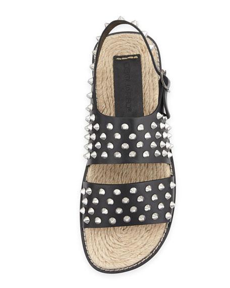 Men's Studded Sandal, Black
