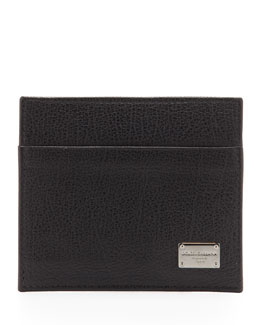 Dolce & Gabbana Logo Plaque Credit Card Holder, Black