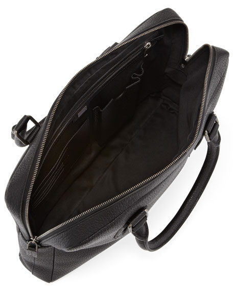 Leather Computer Case, Black