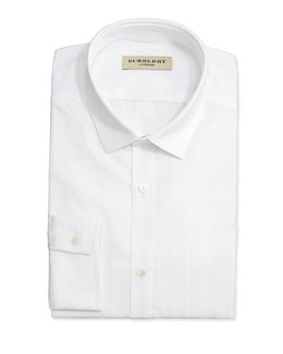 Burberry Woven Dress Shirt, White