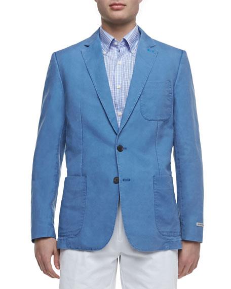Linen/Cotton Blazer, Indigo