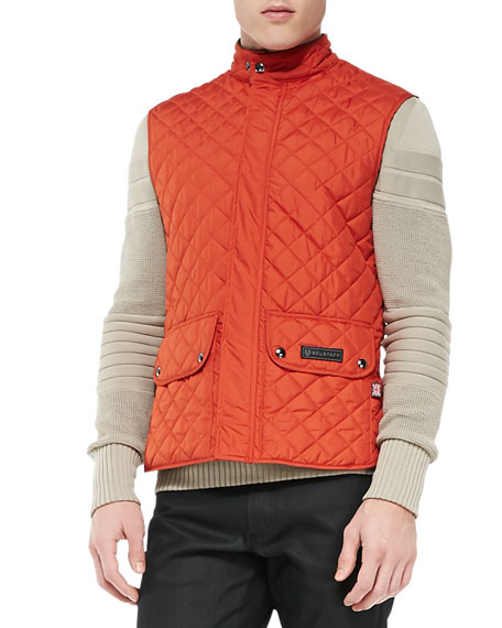 Quilted Lightweight Vest, Dark Orange
