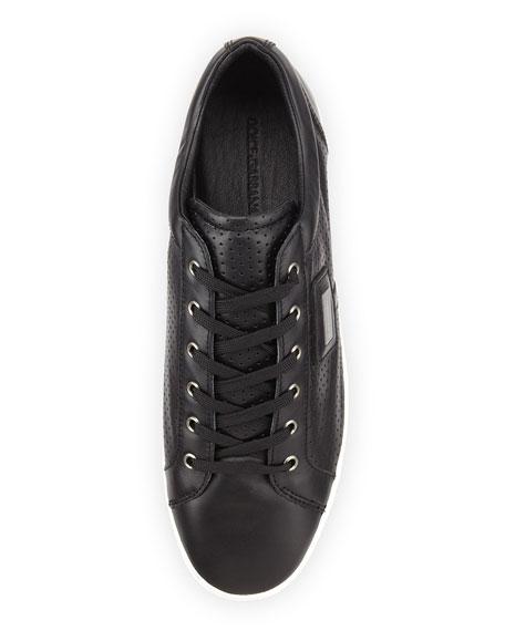 Logo Plaque Low-Top Sneaker, Black