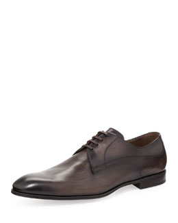 Dolce & Gabbana Brushed Leather Lace-Up, Black