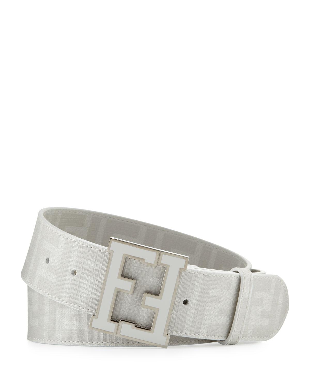 79c07c77 Men's Zucca FF-Buckle Belt, White