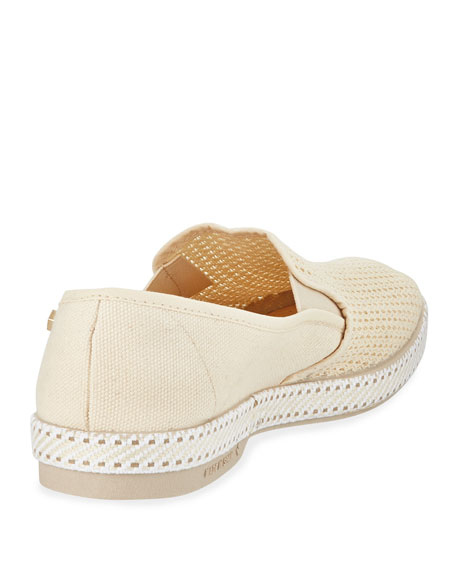 Classic Woven Canvas Slip-On, Cream