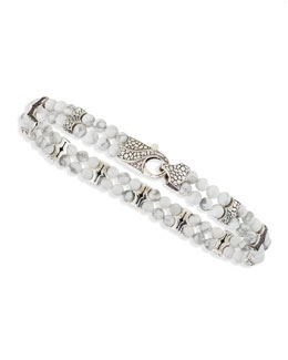 Stephen Webster Rayman 2-Row Howlite-Bead Bracelet