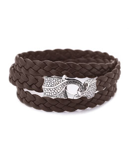 Stephen Webster Rayman Multi-Wrap Men's Bracelet, Brown