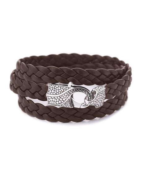 Rayman Multi-Wrap Men's Bracelet, Brown
