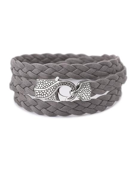 Rayman Multi-Wrap Men's Bracelet, Gray