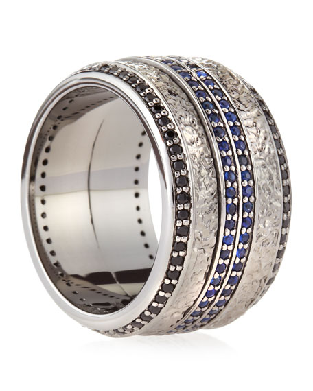 Highwayman Sapphire Spinning Ring
