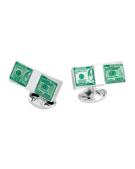 Deakin & Francis Dollar Bill Sterling Silver Cuff