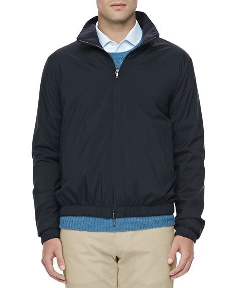 Loro Piana Windmate Reversible Bomber Jacket, Navy