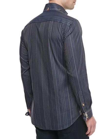 D-Matis Dot-Jacquard Sport Shirt