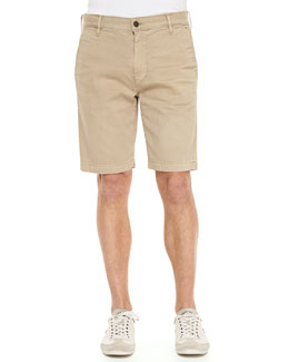 7 For All Mankind Stretch-Twill Shorts, Khaki