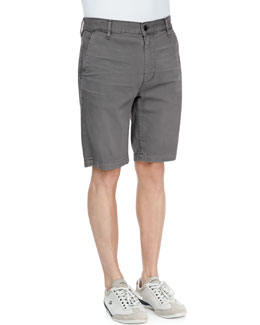 7 For All Mankind Twill Chino Shorts, Sage