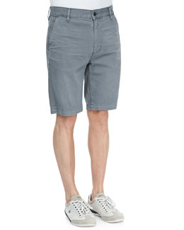 7 For All Mankind Twill Chino Shorts, Slate