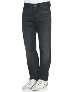 7 For All Mankind Standard Asphalt Black Jeans