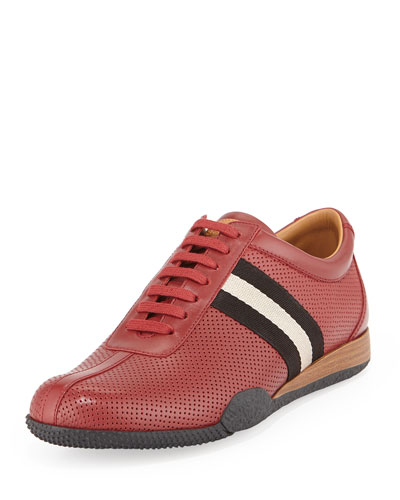 Frenz Perforated Low-Top Sneaker, Red