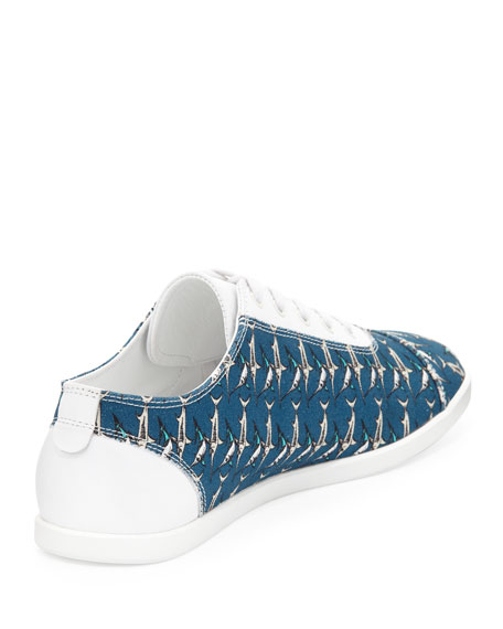 Marlin-Print Low-Top Sneaker, Blue Multi