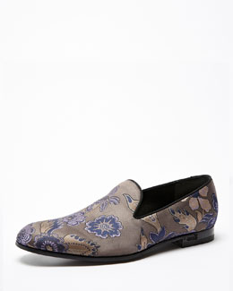 Gucci Floral Embroidered Smoking Slipper