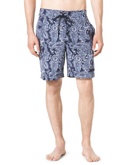 Michael Kors  Paisley-Print Swim Trunks