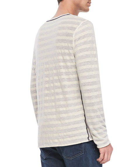 Reversible Long-Sleeve Striped Tee