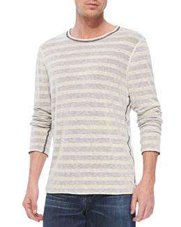 7 For All Mankind Reversible Long-Sleeve Striped Tee