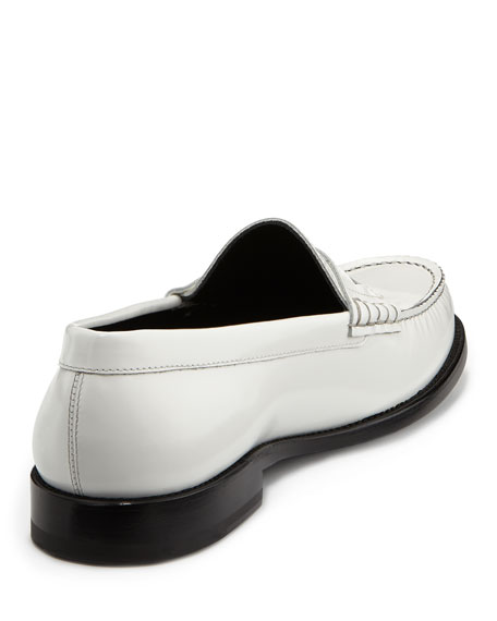 Classic Leather Penny Loafer, White