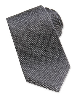 Gucci Woven Diamante Silk Tie, Dark Gray