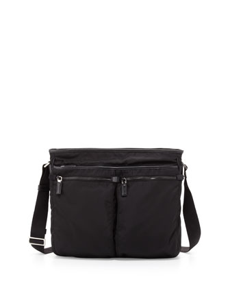 675039d9e8 Low price Prada - Men s Nylon Multi-Pocket Zip Messenger Bag  Black for Special  Now