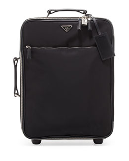 Prada Nylon Carry-On Trolley Bag, Black