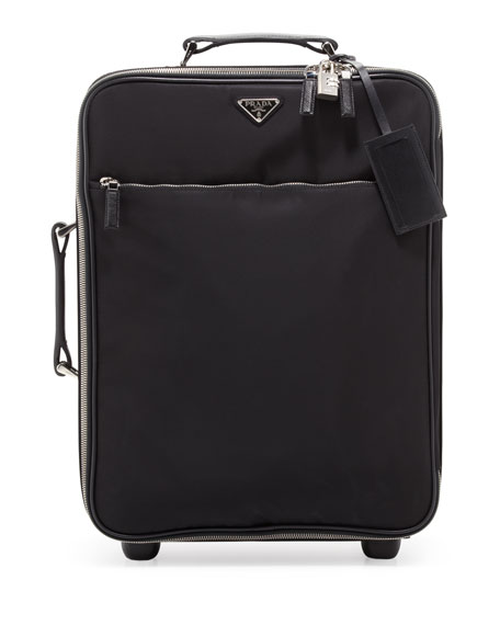 Prada Saffiano Cuir Twin Bag, Black (Nero)