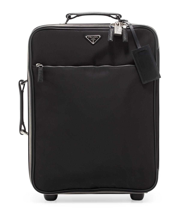 3f2b63f632bb Prada Nylon Carry-On Trolley Bag